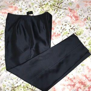 Dark blue silk pants